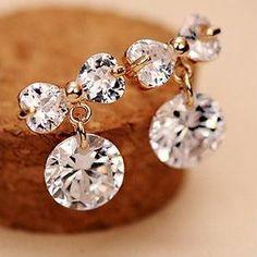 Diamond and Bow Rhinestone Earrings | LilyFair Jewelry, $16.99!