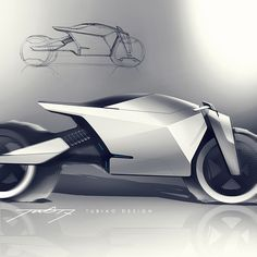 sketch for fun on Behance car and motorcycle design Futuristic Motorcycle, Futuristic Cars, Motorcycle Bike, Concept Motorcycles, Custom Motorcycles, Bike Sketch, Motorbike Design, Custom Cafe Racer, Industrial Design Sketch