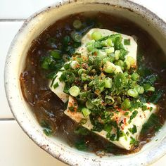"Miso soup of marine-plants""Mozuku"" & TOFU/モズクとお豆腐のお味噌汁"