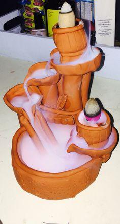DIY oven bake clay backflow incense burner. *craftasticme123 handmade item*