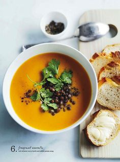 red coconut curry lentil and sweet potato soup. donna hay magazine