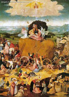 Hieronymus Bosch – Haywain, pannello centrale del trittico