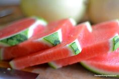 The view from Great Island: Summer Melon Salad and how to cut a melon into cubes