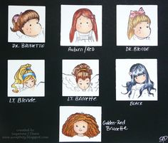 Copic hair chart from scrapbitz