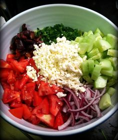Easy Greek salad recipe- so delicious!