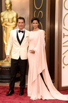 Matthew Conaughey and Camilla Alves on the Oscars red carpet 2014