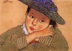 Stanisław Wyspiański (Polish, 1869 - 1907) - Girl in a blue hat, 1895