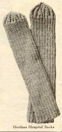 WW I Hospital Socks - free pattern