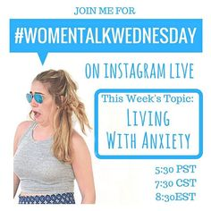 Ermegerdddd I'm going live! This weeks #womentalkwednesdays (boys you are invited too don't worry) is living with anxiety! I am going to share my stories and also leave room for question so be sure to set your alarms! ❤️❤️❤️ if you have any questions you don't feel comfortable asking during the live please dm me before tonight so I can make sure I cover everything! #teachlikeagirl #endthestigma #happyhumpday @teachlikeagirl