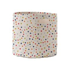 Dots Toy Storage Bin - It's sturdy enough to handle toys, shoes, books or whatever you'd like to stash away in a snap and they look stylish doing it! #PNshop