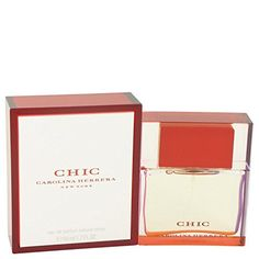 Chic by Carolina Herrera Eau De Parfum Spray 1.7 oz for Women - 100% Authentic. Chic by Carolina Herrera Eau De Parfum Spray 1.7 oz for Women. 100% Authentic Genuine Products (We Do Not Sell Knockouts). Long Lasting Fragrance. Same or Next Business Day Shipping (Avergae Delivery in 2-4 Business Days). We have over 15000 fragrance and beauty products. Please visit our Amazon store.