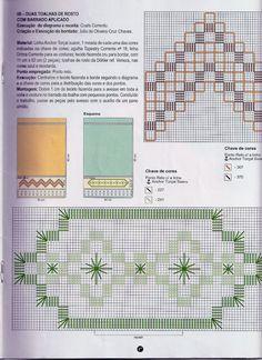 Ponto reto - toalhas de rosto - motivos geométricos - gráfico
