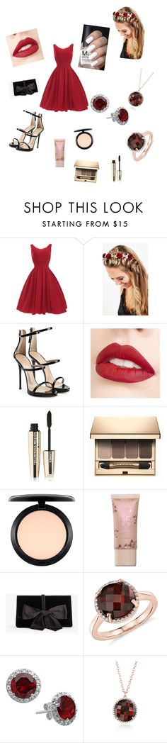 """""""School dance"""" by theizzybee-1 ❤ liked on Polyvore featuring beauty, Johnny Loves Rosie, Giuseppe Zanotti, Jouer, L'Oréal Paris, Clarins, MAC Cosmetics, Ann Taylor and Blue Nile"""