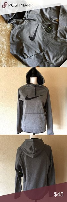 NWT Nike Therma Gray Hoodie NWT Nike Therma Hoodie - New with tag - Size M - Color: gray and black - Nike Therma helps regulate body's temperature to stay warm in cold weather. Also offers Dri-Fit technology - MSRP: 55 Nike Tops Sweatshirts & Hoodies