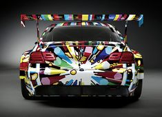 BMW Art Cars - Central London, July .  The entire collection of BMW bodywork designs by artists such as Roy Lichtenstein, Andy Warhol and Jeff Koons.
