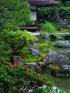 銀閣寺:錦鏡池