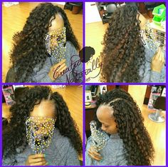 Long hair crochet style. Curly crochet. Protective styles.  Www.facebook.com/Hairlou/ Www.instagram.com/decemberloving
