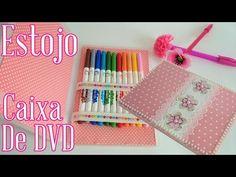 Estojo Feito Com Caixa de DVD ♥ Volta às aulas ♥ - YouTube
