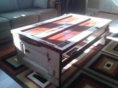 coffee table from the old door I have in the garage!