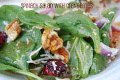 See Jane in the kitchen: Cranberry Spinach Salad