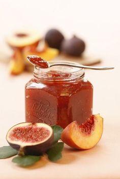 Pfirsich-Feigen-Marmelade (Rezept, Einkochen, Einmachen, Marmelade, Konfitüre, Selbstgemacht)