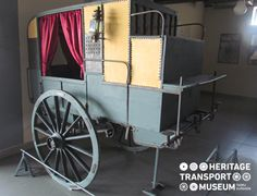 A carriage from yesteryears renowned for private passenger use and transporting goods! #carriage #heritahe #transport #museum #passenger