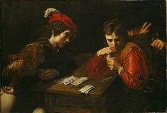 """Cardsharps,"" circa 1614–1615, by Valentin de Boulogne"