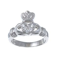 @Overstock - Cubic zirconia claddagh ringSterling silver jewelryClick here for ring sizing guidehttp://www.overstock.com/Jewelry-Watches/La-Preciosa-Sterling-Silver-Cubic-Zirconia-Claddagh-Ring/5600940/product.html?CID=214117 $38.49