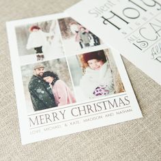 Good template for client Christmas cards. Plan: Have several templates to choose from designed and ready to go by summer, in time for the holiday portraits season.