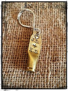 Love with a Bullet Key Chain Brass Remington Arms by AnvilDesigns, $14.95