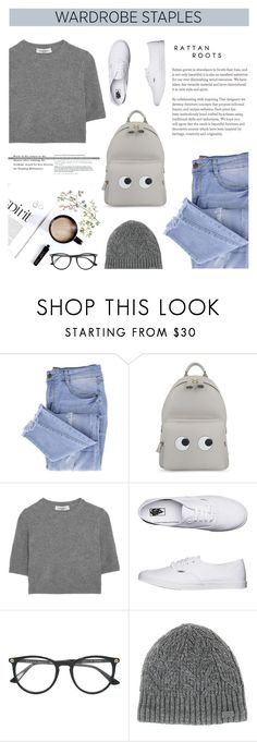 """""""Wardrobe Staples"""" by carolinafrancesca ❤ liked on Polyvore featuring Essie, Anya Hindmarch, Valentino, Vans, Gucci and Under Armour"""