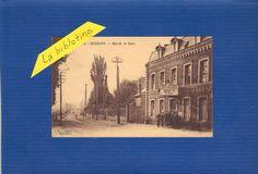 CPA ANIMEE - BUSIGNY (59) - RUE DE LA GARE - 1928