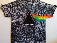 Dark Side of the Moon Tie Dye T-Shirt by BarefootLazerTieDye
