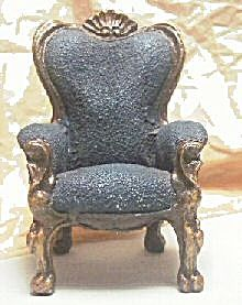 Cast Resin Wingback Dollhouse Chair