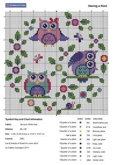 Free Owl Cross Stitch Pattern – The World in Stitches Cross Stitch Owl, Dragon Cross Stitch, Free Cross Stitch Charts, Small Cross Stitch, Cross Stitch Letters, Cross Stitch Bookmarks, Cross Stitch Cards, Cross Stitch Animals, Cross Stitching