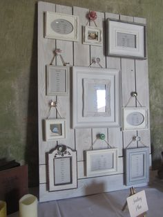 Their table plan was on an old wooden door, with hanging frames and a selection of vintage style door knobs. Wedding Seating Board, Seating Arrangement Wedding, Wedding Table, Wedding Ideas, Seating Chart Wedding Template, Old Wooden Doors, Seating Cards, Hanging Frames, Table Plans