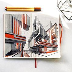 Stabilo architectural sketch