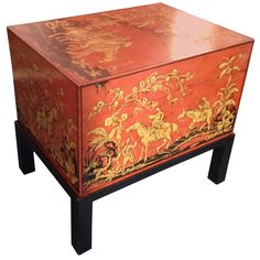 1stdibs - Chinese Red Lacquered Trunk with Stand explore items from 1,700  global dealers at 1stdibs.com