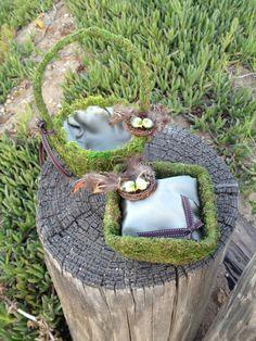 Rustic Woodland Outdoor Wedding Mossy Bird's Nest Flower Girl & Ring Bearer Set (CUSTOMIZABLE) by JsWorldOfWonder, $49.00