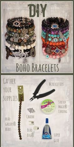 DIY Easy Semi Precious Stone Bracelet Tutorial from Michaels. This DIY bracelet . - DIY Easy Semi Precious Stone Bracelet Tutorial from Michaels. This DIY bracelet is so easy because - Armband Tutorial, Armband Diy, Bracelet Tutorial, Diy Bracelets Easy, Bracelet Crafts, Jewelry Crafts, Diy Beaded Bracelets, Diy Jewelry To Sell, Jewelry Making Tutorials