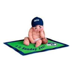 Seattle Seahawks #1 Fan Commemorative Baby Doll Collection #Seahawks #NFL! I NEED THIS!