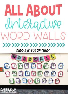 Using an interactive word wall is a simple way to get your students engaged and using words in your classroom. Click the image to learn how to set yours up in first grade, second grade, or any other grade! #interactivewordwall #wordwall