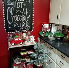 My Christmas Hot Chocolate Bar.....Who wants a tasty Hot Cocoa???
