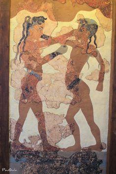 Arte de Thera en Santozeum. Phira. Grecia