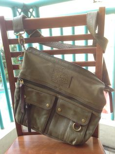 Fossil Crossbody Purse Bag Olive Forest Green