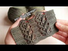 Crochet Bedspread, Crochet Shawl, Crochet Stitches, Crochet Videos, Fingerless Gloves, Arm Warmers, Crochet Projects, Free Pattern, Knitting