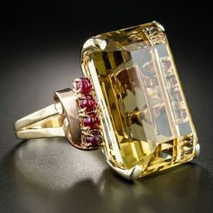 Large Retro Citrine and Cabochon Ruby Ring – Antique & Vintage Gemstone Rings – … Großer Retro Citrin und Cabochon Rubin Ring – Antik & Vintage Edelstein Ringe – Vintage Schmuck Antique Rings, Vintage Rings, Antique Jewelry, Silver Jewelry, Vintage Jewelry, Silver Ring, Ruby Ring Vintage, Antique Gold, Silver Earrings