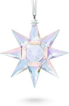 Swarovski Christmas Ornaments, Blue Comforter Sets, Christmas Star, Christmas Decor, Star Ornament, Star Designs, Star Shape, Clear Crystal, Crystals