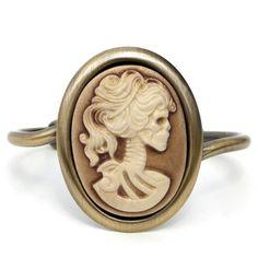 Goddess Lolita Cameo Bracelet by Miss Atomic Jewelry