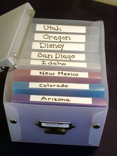 How to Organize Photos and Store Them ~ I love this simple and practical way of doing it.